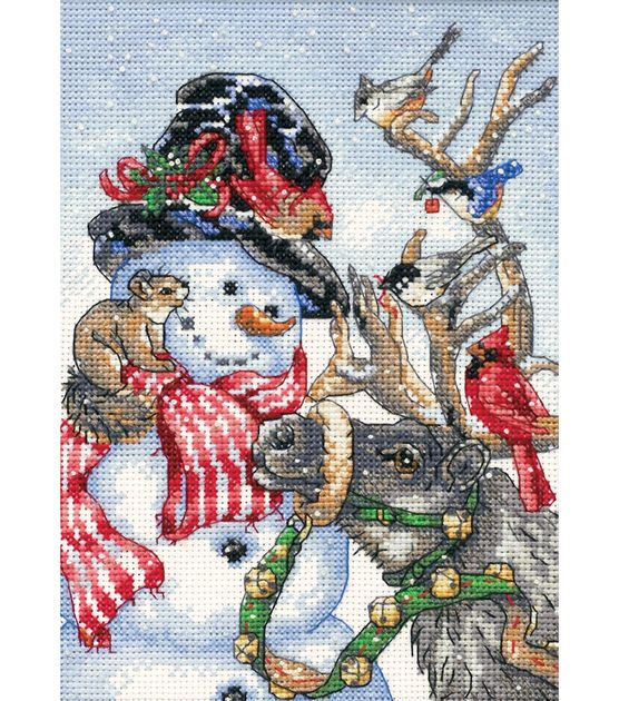 Gold Collection Petite Snowman & Reindeer Counted Cross Stitch Kit