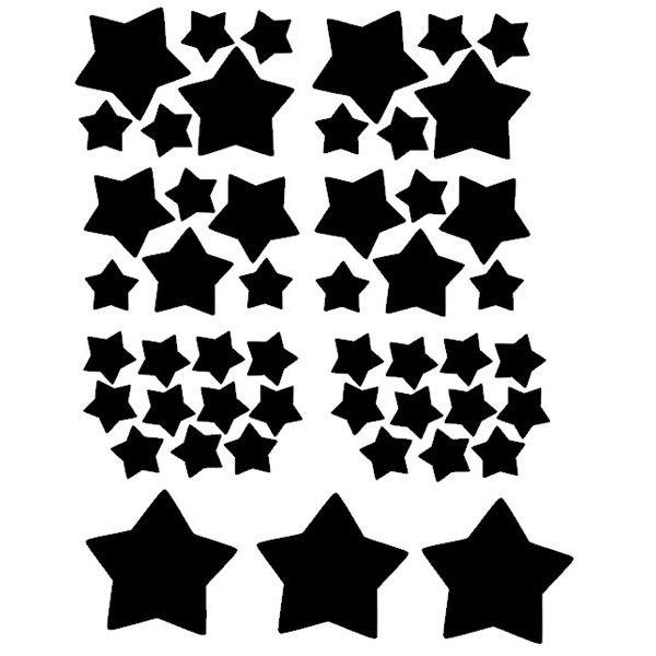 POM muurstickers Sterretjes zwart – Lief en Klein