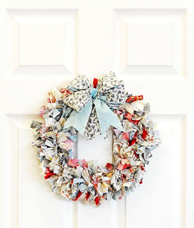 Ben Franklin Crafts & Frame Shop: D.I.Y. Fabric Strips Wreath