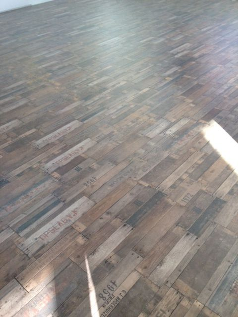 Believe it or not its Parador laminate from Solomons Flooring. This urban look is perfect for a modern industrial look .