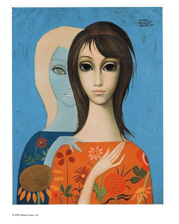 Margaret Keane Big Eye Girl Lithograph Print 1963 by BellaMercato, $10.00