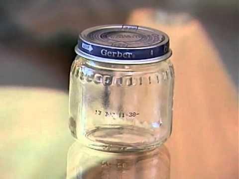 Cómo quitar el papel a los frascos de cristal con un mechero!!!