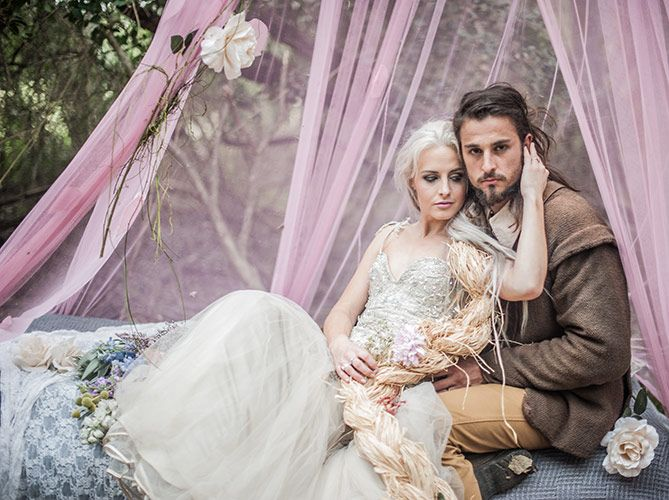 Dress: Wilhelmina Bracken Couture  Photographer: Carmen Visser Photography Makeup: Monette's Nail and Bridal Studio