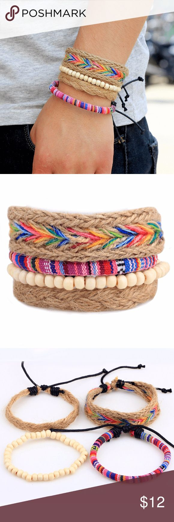 "Fashion Jewelry Bracelets Nepal Bracelet Beaded Braid Hemp Cord Feature: Nepal, yunnan, seven colors, beads Specifications: 7""-8"" Material: Hemp braid cord, wood beads, wax cord Makes a great gift for friend and family or self purchase Birthday gift, Valentine's gift and etc Jewelry Bracelets"