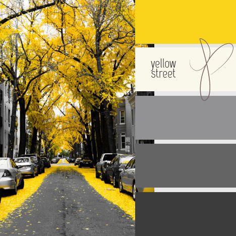 Thinking about a grey accent wall for a yellow bedroom in our home.  Love these colors together.