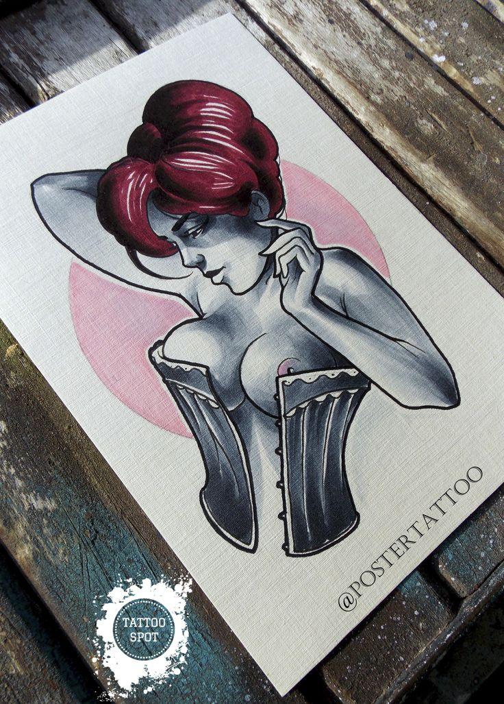 """Tattoo scetch by Evgeny . """"Tattoo Spot"""" studio. Saint Petersburg"""