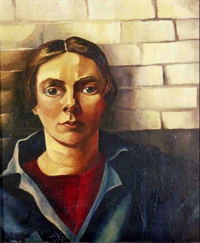 Charley Toorop - Zelfportret tegen muur 1925