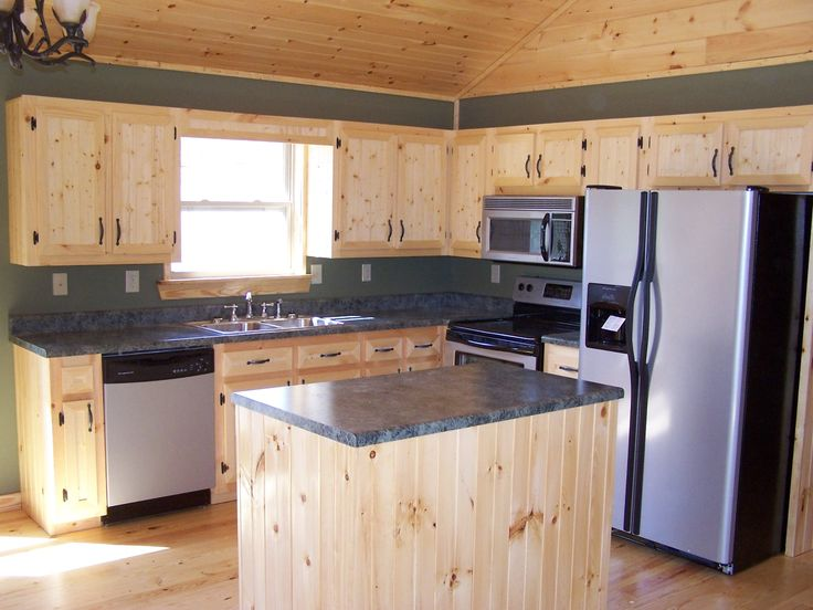 white pine kitchen cabinets | Kitchen Facelift Ideas: stainless sink ...
