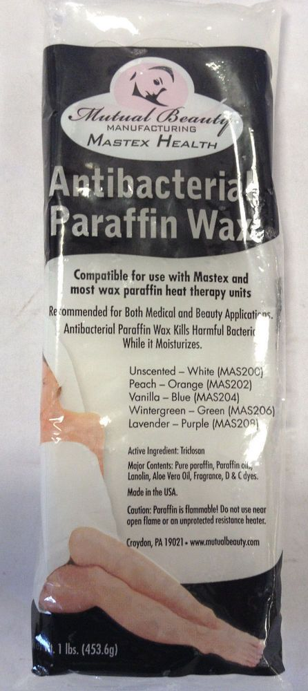 Mastex Health Professional Anti Bacterial Paraffin Wax Refill Coconut 16 oz 6 Pk #MastexHealth