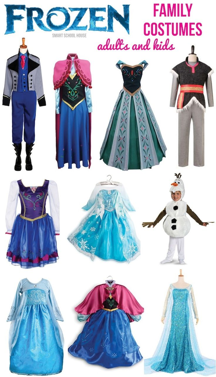 Frozen Costumes for the Family- I found a really fun variety of Frozen costume for the entire family!
