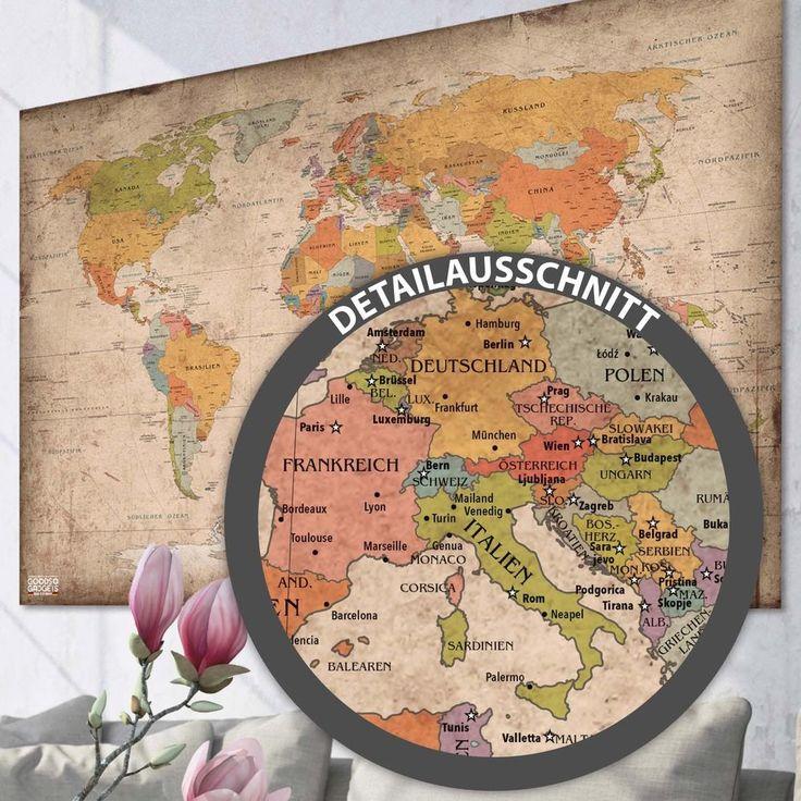 Antike XXL Weltkarte Poster Riesen Landkarte Retro Vintage Design Wandbild Deko | Antiquitäten & Kunst, Kunst, Kunstdrucke / Poster | eBay!