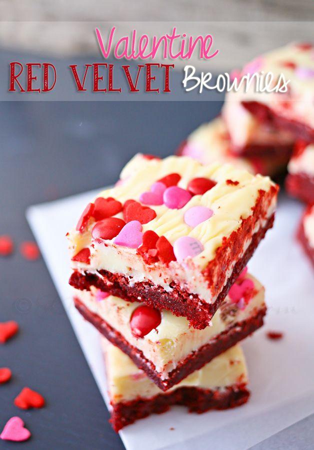Valentine Red Velvet Brownies,red velvet cake recipe,red velvet recipes,red velvet cream cheese brownies,red velvet brownies,valentine ideas, valentines ideas