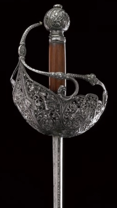 A rare English basket-hilted rapier, c.1620... sooooo fine...