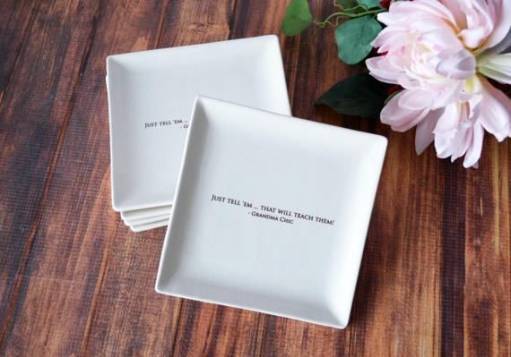 Personalized Appetizer Plates  Wedding Gift Mother's by Susabellas #appetizerplates