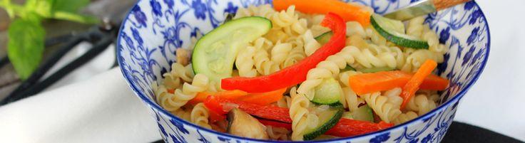 Espirais Wok com legumes