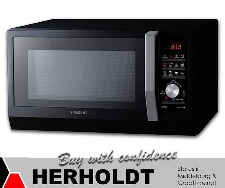 This stunning black #Samsung 32L convection microwave is simplistic yet modern, aesthetically appealing and the perfect companion in the kitchen. Get it now at #Herholdt6)#appliances #lifestyle