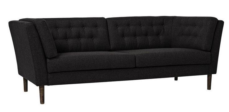 Bloomingville+Pause+Sofa++-+Sofa+fra+Bloomingvilles+Pause+serie.+Sofaen+er+fremstillet+i+mørk+polyester,+hvilket+gør+den+utroligt+slidstærk.+Dertil+kommer+det+enkle,+klassiske+design,+der+vil+give+dit+hjem+et+elegant+og+stilsikkert+udtryk