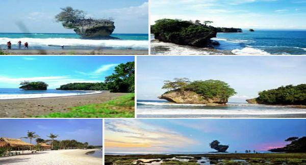 Keindahan Pantai Madasari pangandaran mampu membuat takjub para pengunjungnya karena masih sangat alami dan juga lokasi wisatanya yang masih sangat bersih.