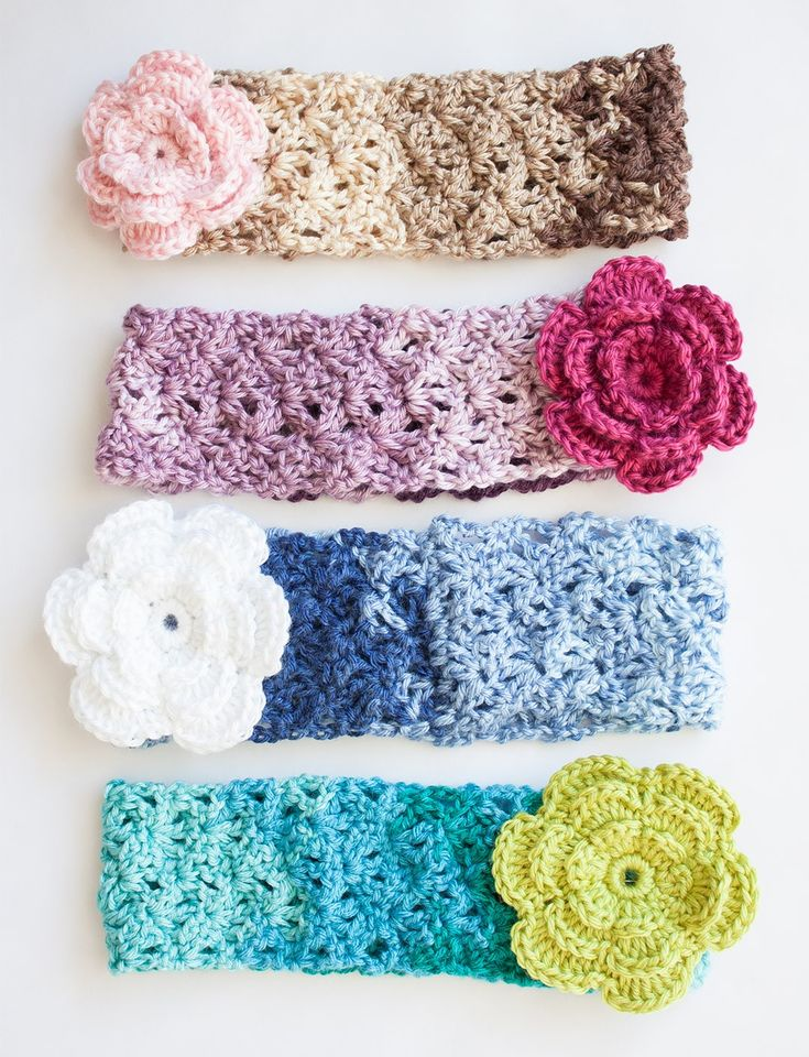 Yarnspirations.com - Caron Cozy Posy - Headband  - Patterns  | Yarnspirations