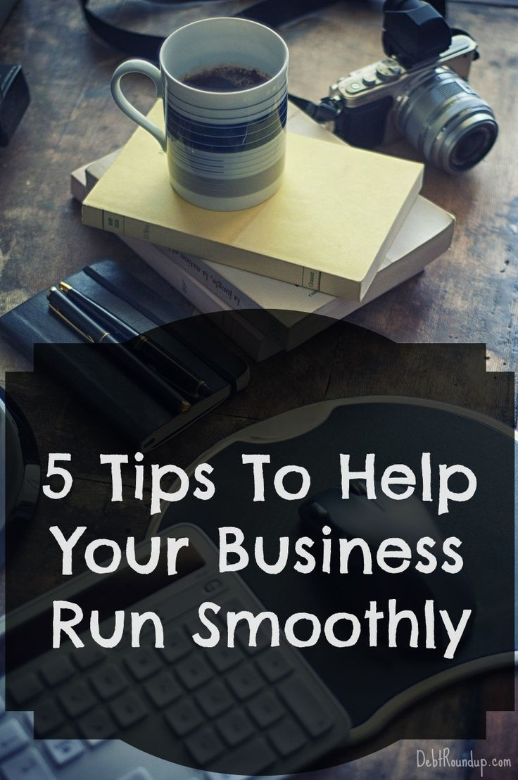 Running a business can be tough, but with these five tips, you can at least run it smoother than you have before. Don't let your business bog you down!