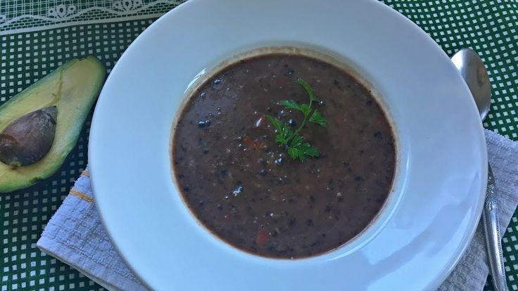 Sopa de feijão preto | Vegan