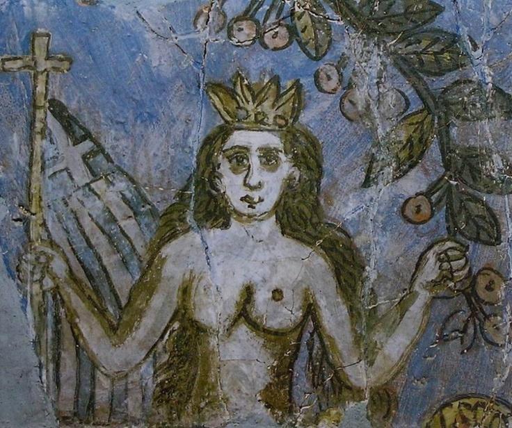 Χατζημιχαήλ Θεόφιλος-Γοργόνα  Theofilos Chatzimichail  greek folk painter [1868-1934]: The Mermaid