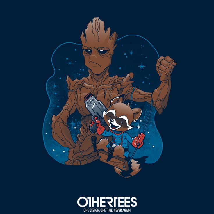 """Best Friends Forever"" by Dooomcat T-shirts, Tank Tops, Sweatshirts and Hoodies are on sale until 24th December at www.OtherTees.com Pin it for a chance at a FREE TEE #Groot #IamGroot #GotG #GuardiansOfTheGalaxy #Marvel #MarvelComics #Comics #OtherTees #RocketRaccoon #Rocket"