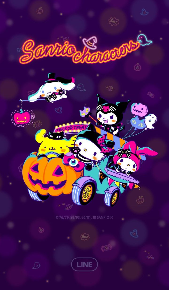 Sanrio Characters Halloween Line Wallpaper Hello Kitty Halloween Wallpaper Hello Kitty Halloween Hello Kitty Pictures