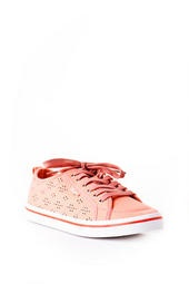 Slope Lace Up Sneaker in Coral