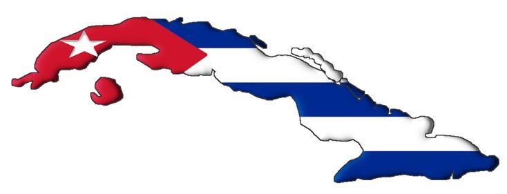 Cuba flag map