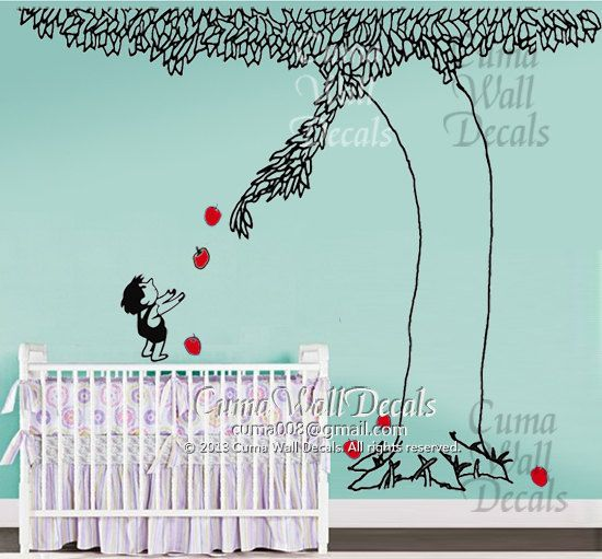 the giving tree wall decal nursery vinyl wall decals kids wall sticker wedding wall decal officethe giving tree by cuma