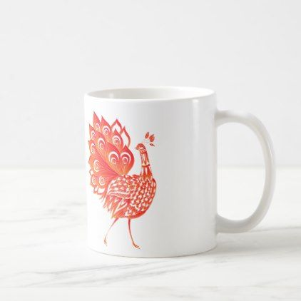 Peacock Coffee Mug - red gifts color style cyo diy personalize unique