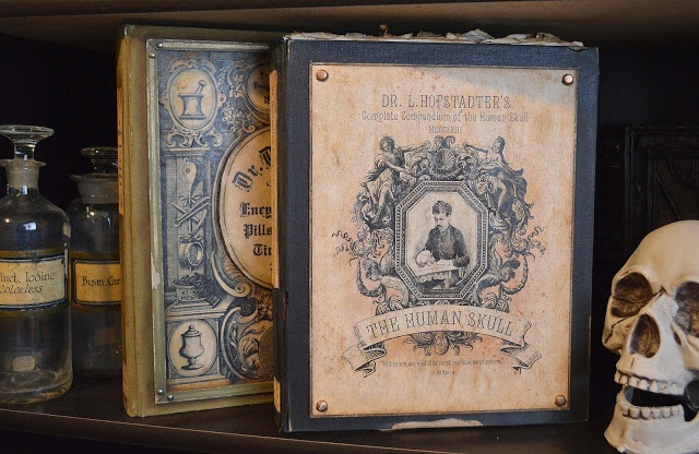 Altered Book Cover Tutorial : Creepy book tutorial and free graphics halloween spell