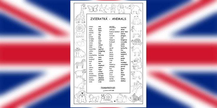 Animals - vocabulary - Aktivity pre deti, pracovné listy, online testy a iné