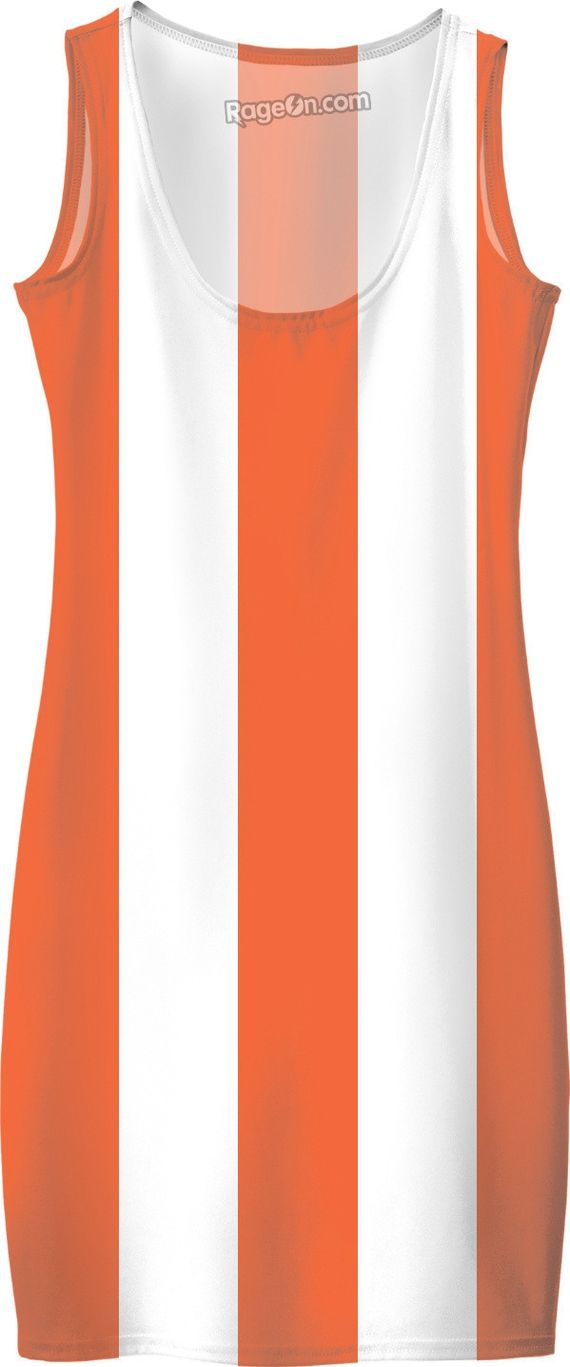 Thick orange and white stripes pattern, lines theme simple dress - item printed by RageOn.comProduction Time: 7-10 business daysShipping:USA: 4-10 business daysInternationa... #erotic #art #prints #canvas #decor