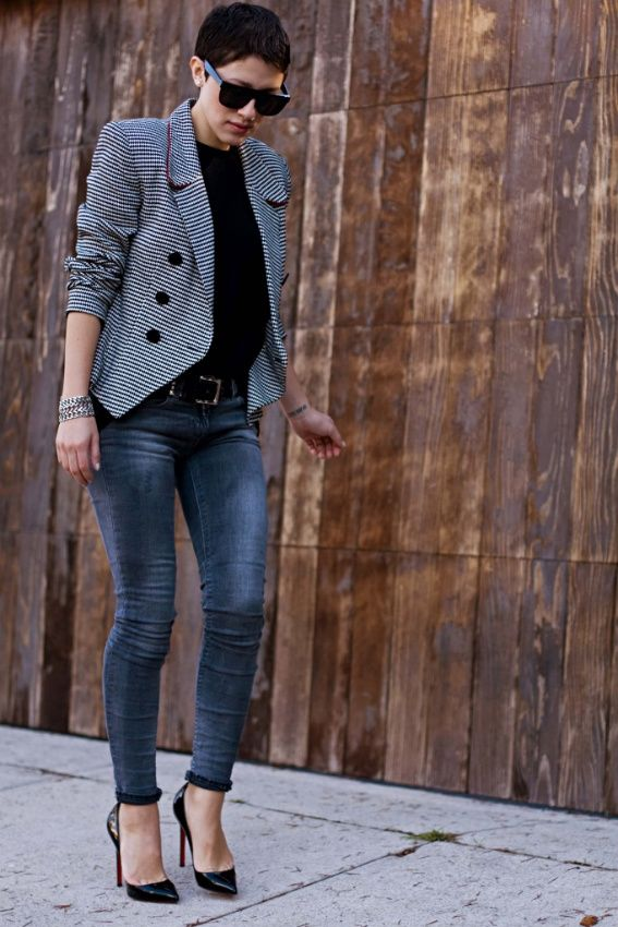 Love this blazer, with jeans and Louboutin pumps.: Jacket, Short Hair, Outfits, Fashion, Style, Clothes, Blazers, Wear