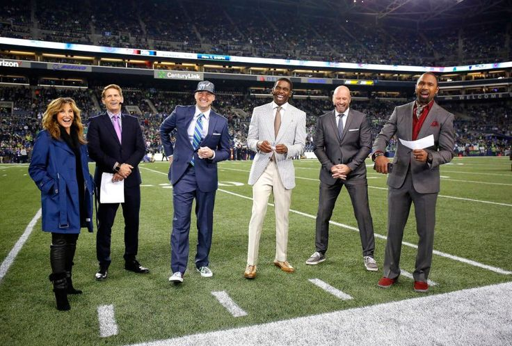 Monday Night Football: Bills vs. Seahawks:   November 7, 2016  - 31-25, Seahawks  -    Members of the Monday Night Football broadcast crew are seen before a game between the Seattle Seahawks and the the Buffalo Bills at CenturyLink Field on Nov. 7, 2016 in Seattle.