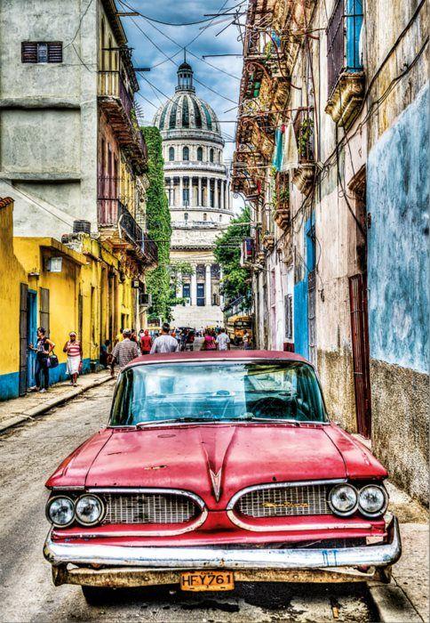 EDUCA Puzzle Veterán v Havaně 1000 dílků