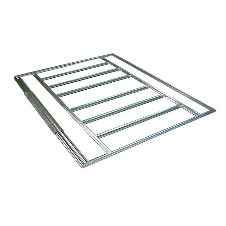 5 ft. x 4 ft. and 6 ft. x 5 ft. Floor Frame Kit for Sheds, Grays