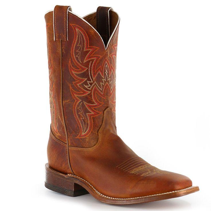 Justin Men's Bent Rail Square Toe Western Boots