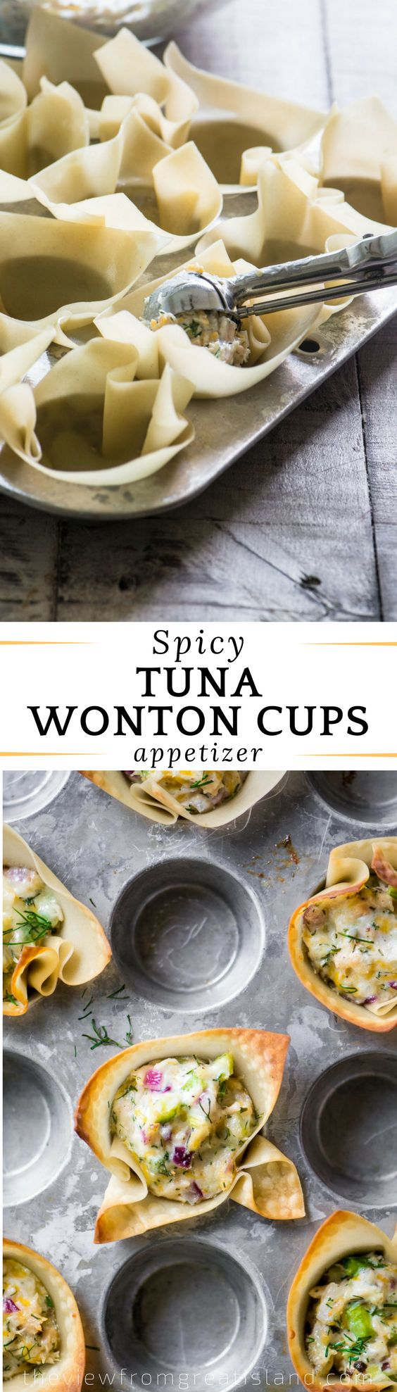 Spicy Tuna Wonton Cups