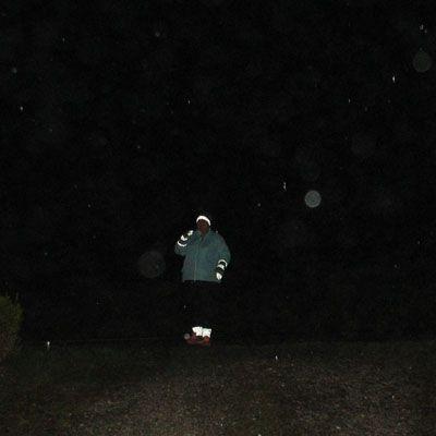 Refleksgarn i vintermørke. Reflex Yarn