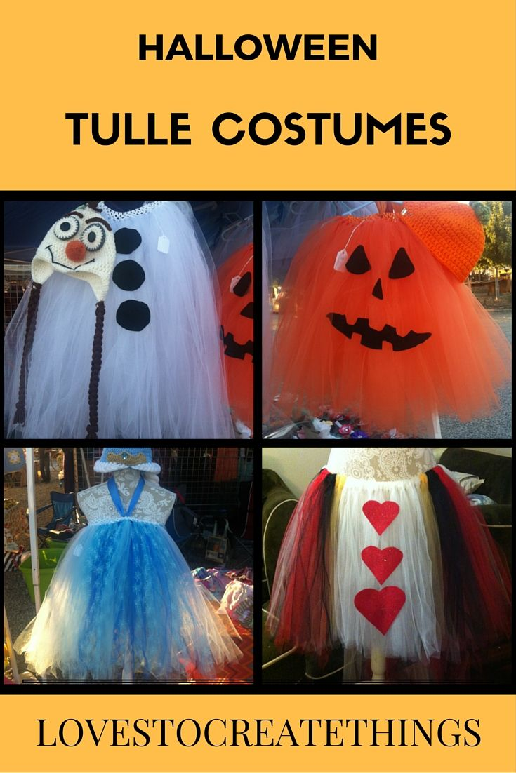 Tulle Halloween Costumes for kids and adults