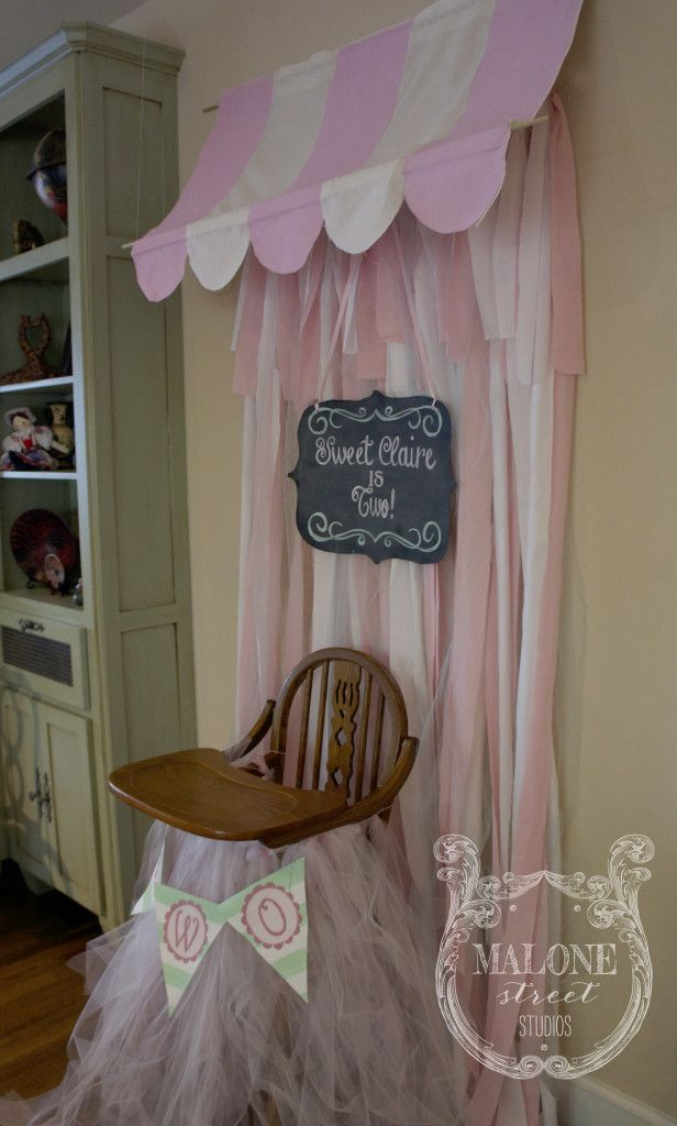 Malone Street Studios | celebrate life's moments – a vintage inspired ice cream social | DIY striped awning