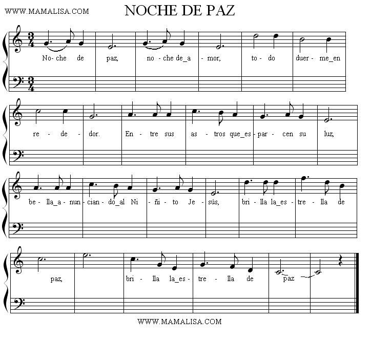 noche de paz letras musicales - Google Search