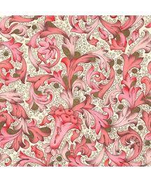 Traditional Florentine Print Paper in Pink Tones ~ Carta Fiorentina Italy
