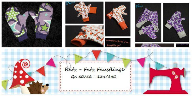 E+Book+Ratz+Fatz+Fäustlinge/Handschuhe+Gr.50-134+von+Lolletroll+auf+DaWanda.com
