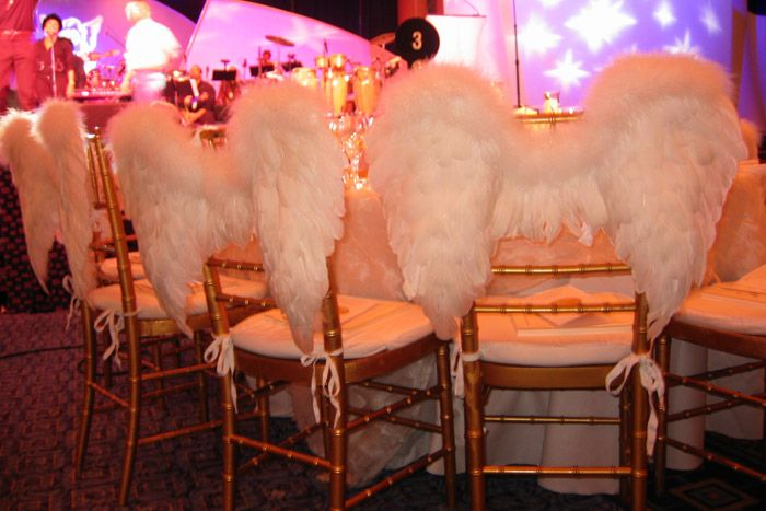 At the 2003 Angel Ball benefit for the G&P Foundation for Cancer Research in New York, On3's gift lounge...
