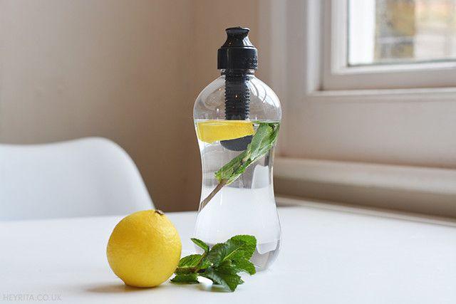 Lemon-Infused Water In My Bobble. More on my blog: http://heyrita.co.uk/2015/02/bobble/