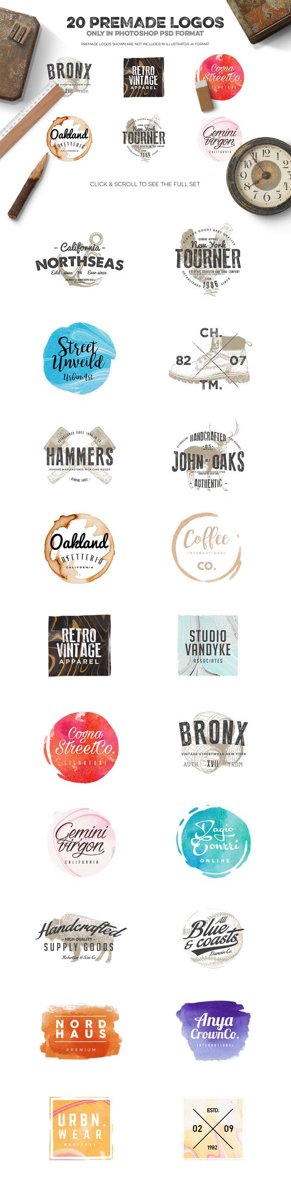 Logo Creation Kit Bundle Edition by Zeppelin Graphics on Behance